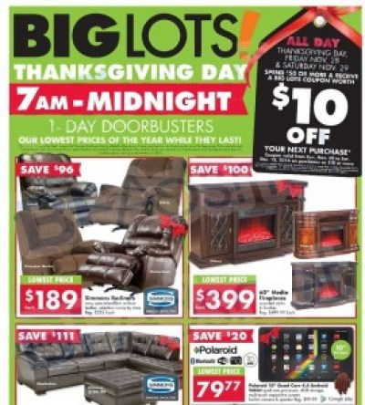 Big Lots #BlackFriday Ad