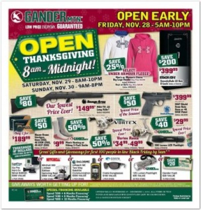 Gander Mountain #BlackFriday Ad