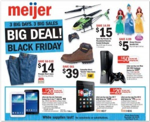 Meijer #BlackFriday Ad