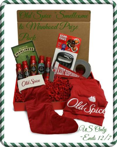 Old Spice Holiday Prize Pack Giveaway