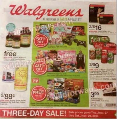Walgreen's #BlackFriday Ad