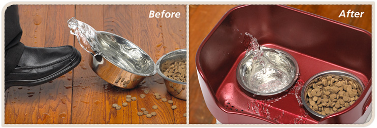Before and After Neater Feeder