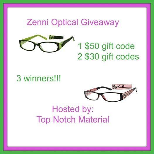Zenni Optical Giveaway