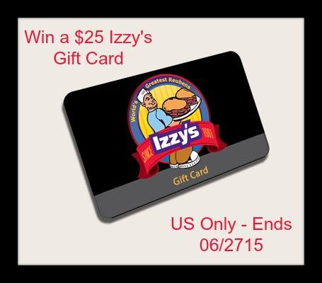 Izzy's $25 Gift Card Giveaway1