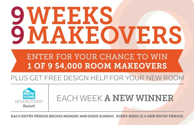 Bassett '9 Weeks, 9 Makeovers' Sweepstakes