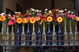 Restaurant floral decor Antigua Guatemala