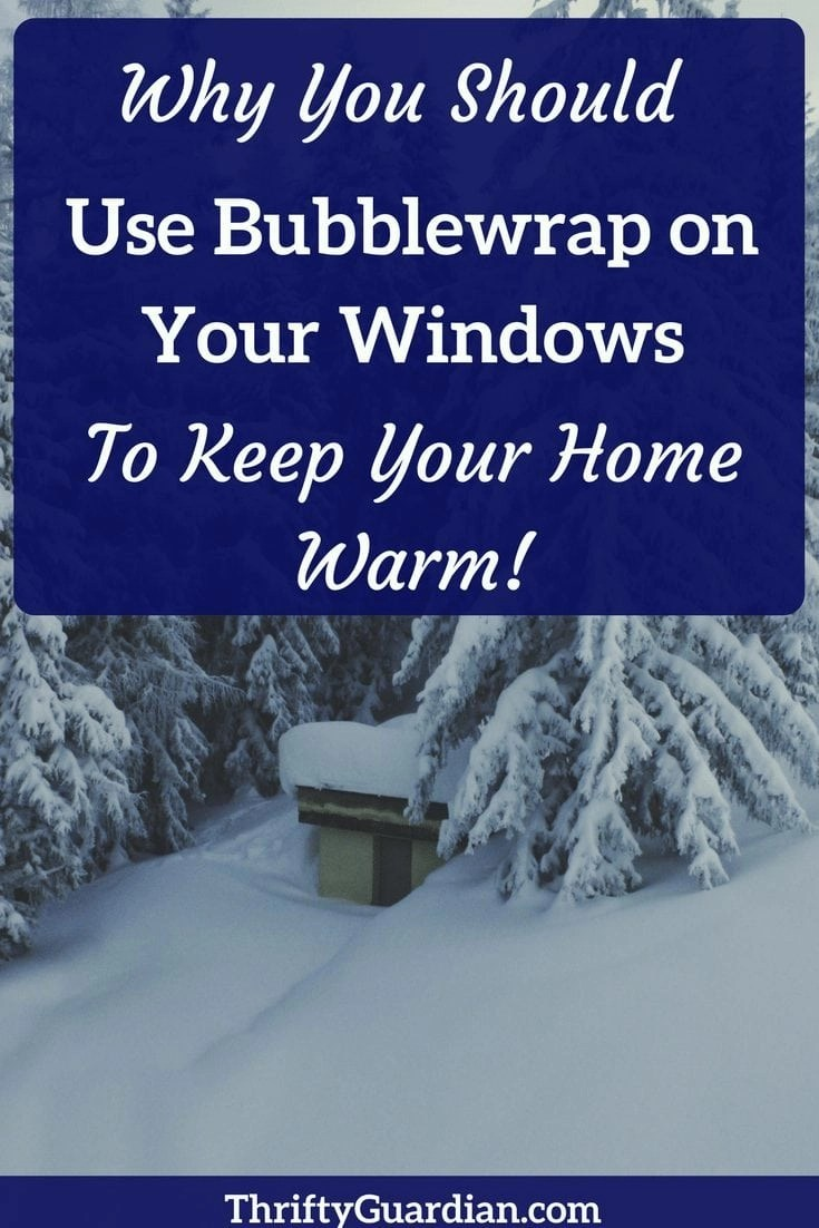 How to use bubblewrap to insulate your windows in the winter months; it really does work! Use bubblewrap instead of cling wrap to save money. #gasbill #heatingcosts #winter #cold #bubblewrap #windows #shrinkwrapwindows