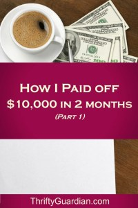 How I've Paid Off $10K in Debt: Part 1