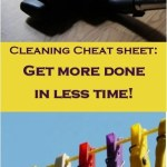Get more done in less time; Cheat sheet to help you clean house!