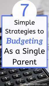how to budget as a single parent