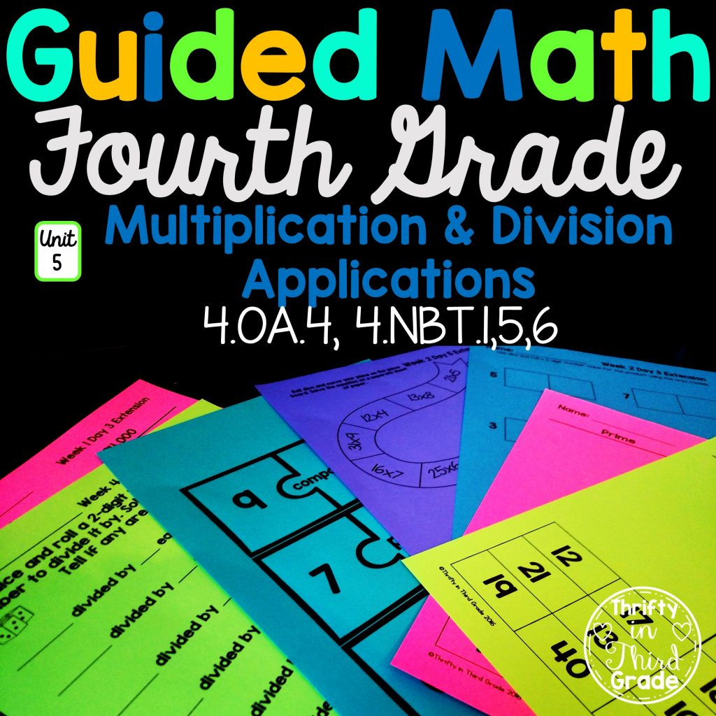 4th Grade Guided Math Unit 5 Multiplication And Division