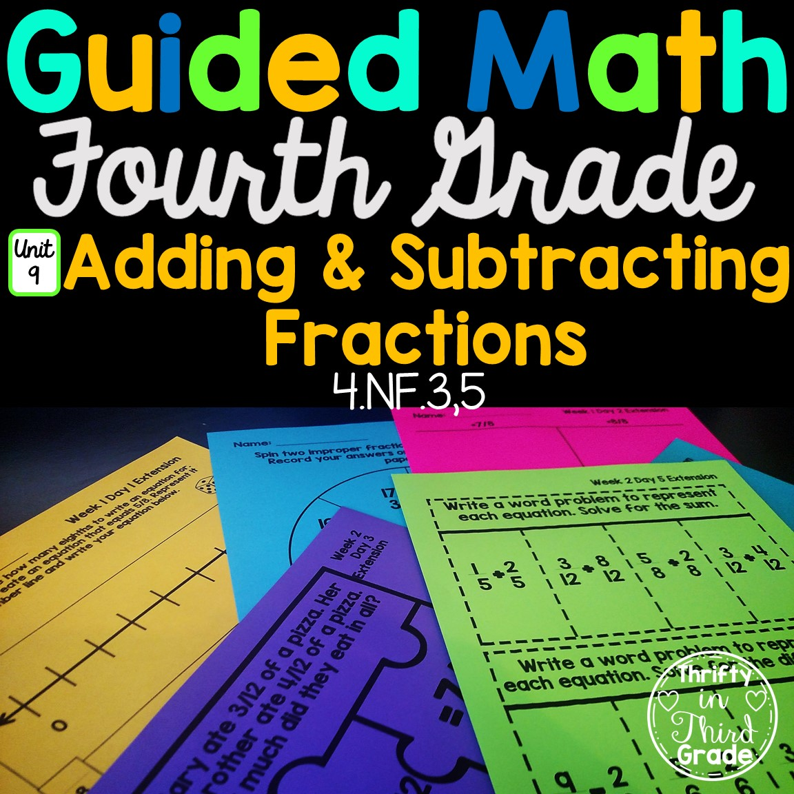 4th Grade Guided Math Unit 9 Adding And Subtracting