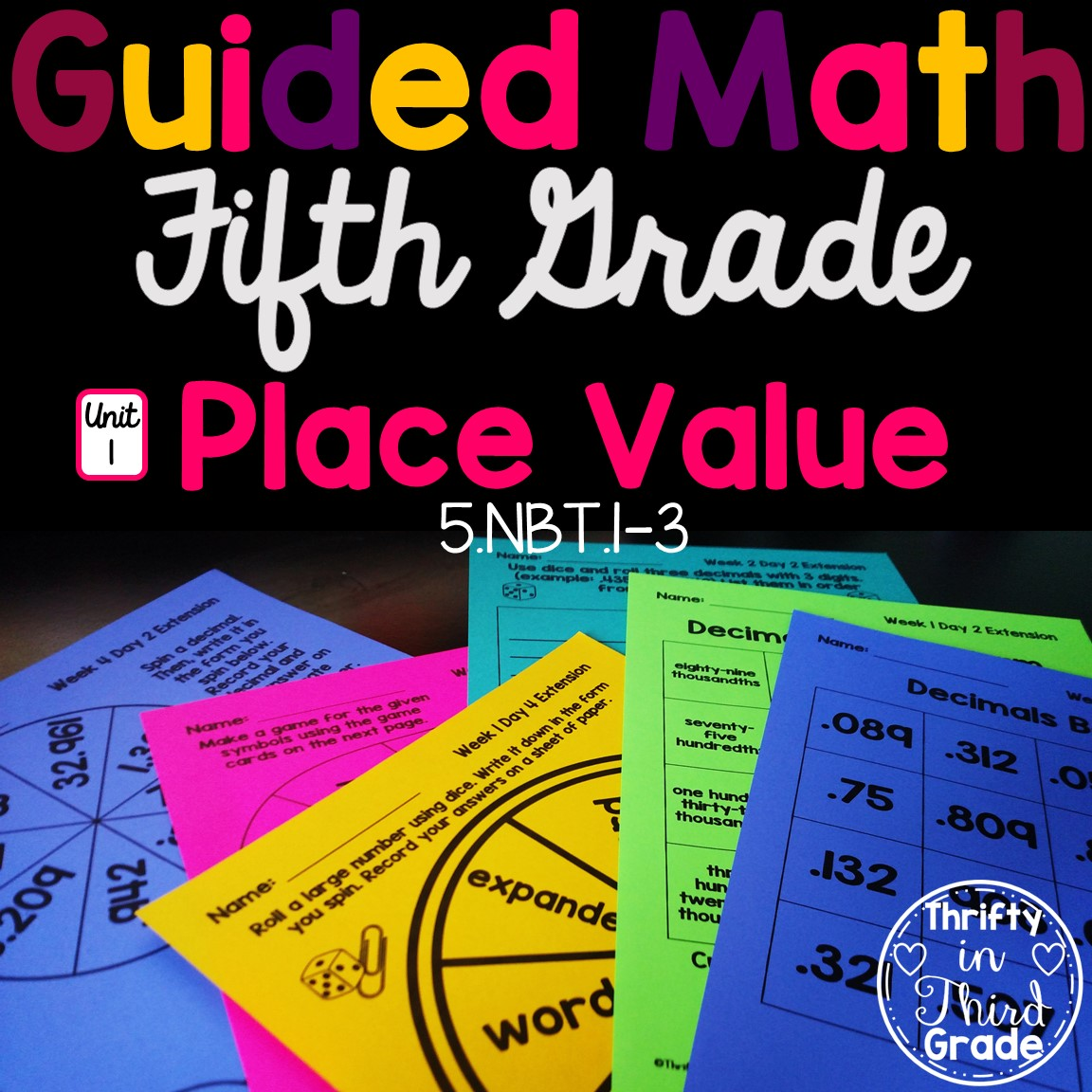 5th Grade Guided Math Unit 1 Place Value