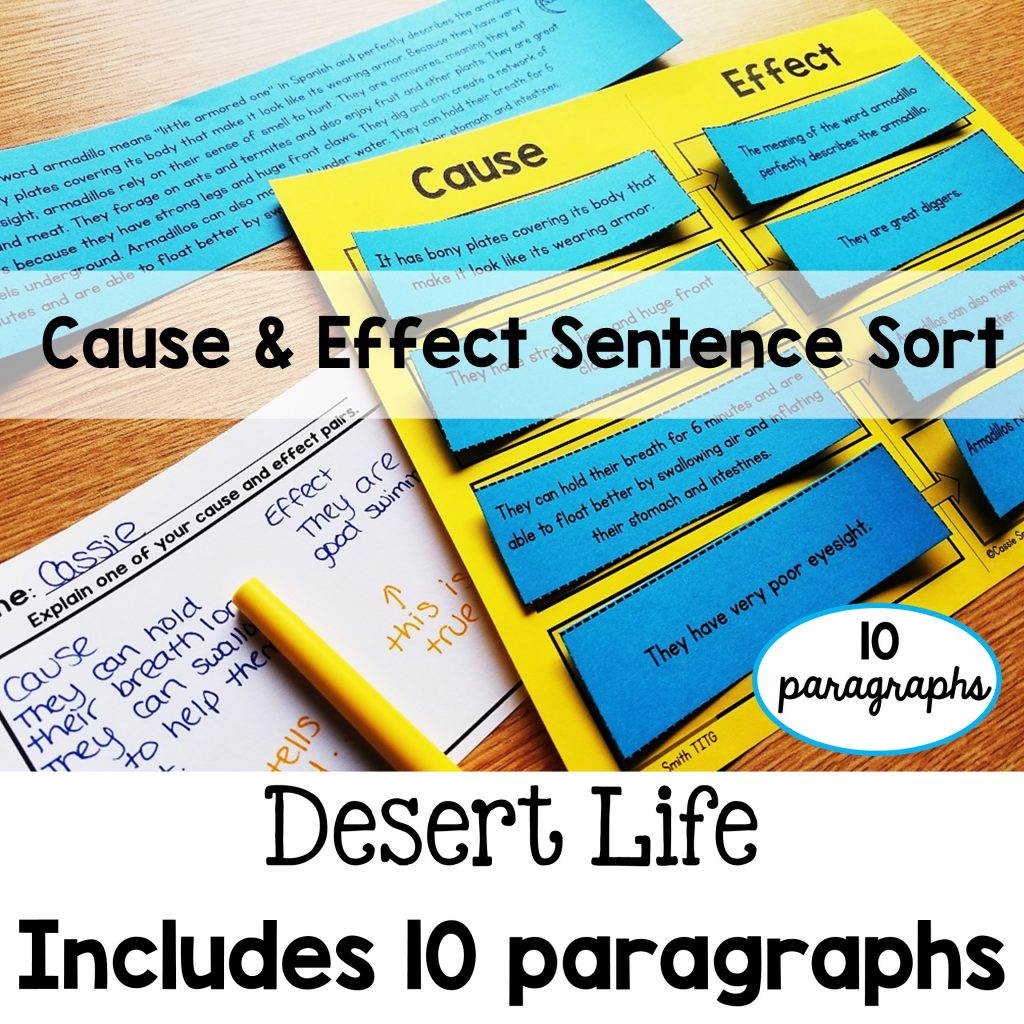 Cause And Effect Sentence Sort Set 2