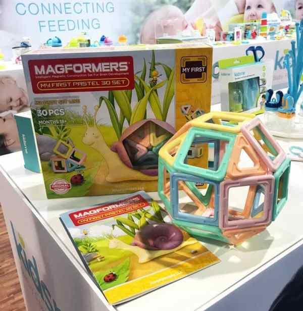 Pastel Magformers Set | 65 Top Baby Products for 2018 from the ABC Kids Expo