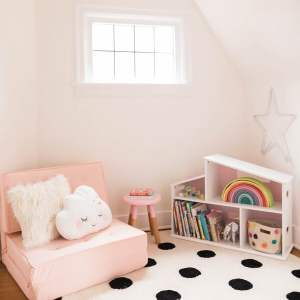 The Girls' Playspace and Reading Nook Reveal!