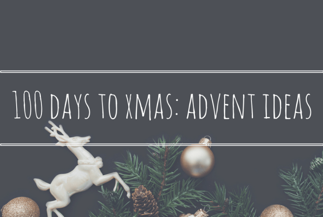 100 day countdown to christmas advent ideas