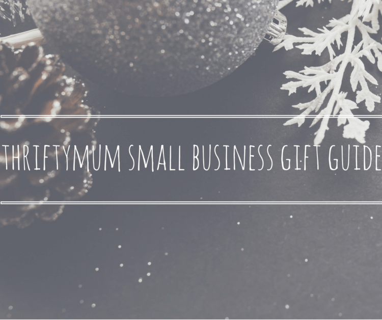 thriftymum small business gift guide title