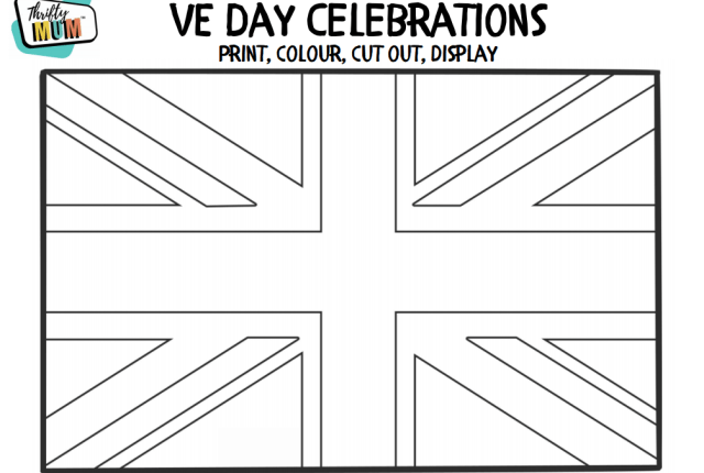 free union jack flag colouring in