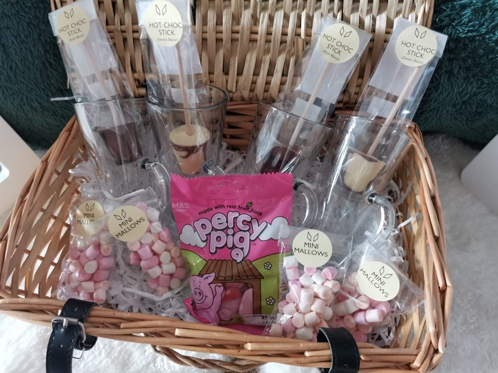 bunny and the bell chocolate hamper for slumber party