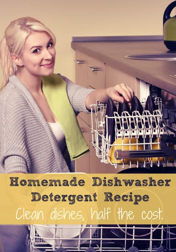 Make your own dishwasher detergent at home for so much less!