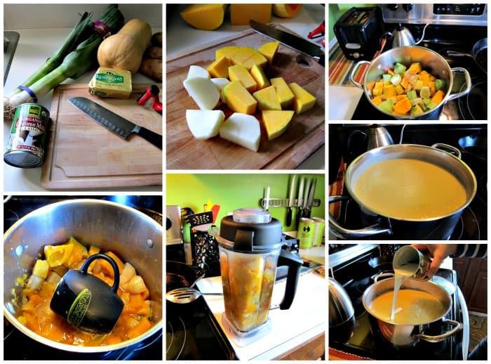 Delicious Leek and Butternut Squash Soup