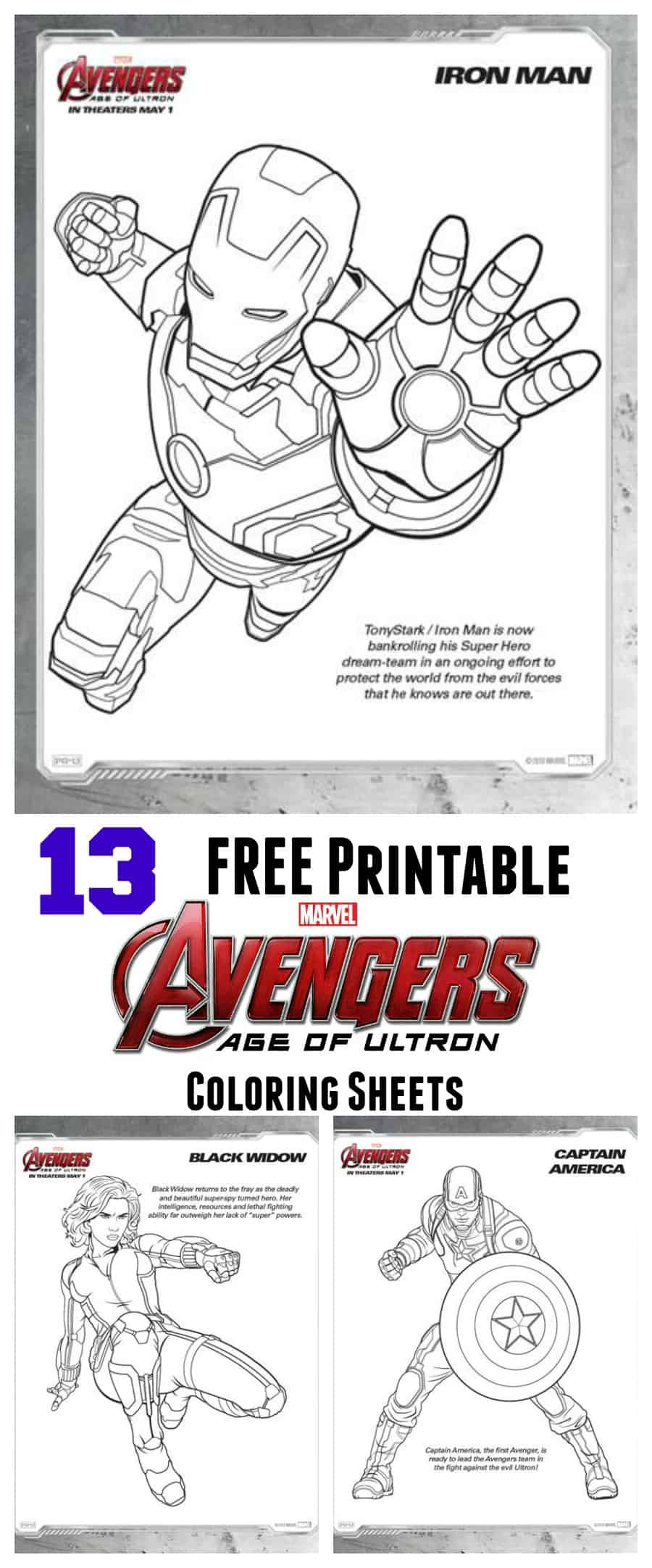 FREE Avengers: Age of Ultron Coloring Sheets - Thrifty Nifty Mommy