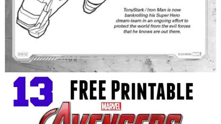 FREE Avengers: Age of Ultron Coloring Sheets