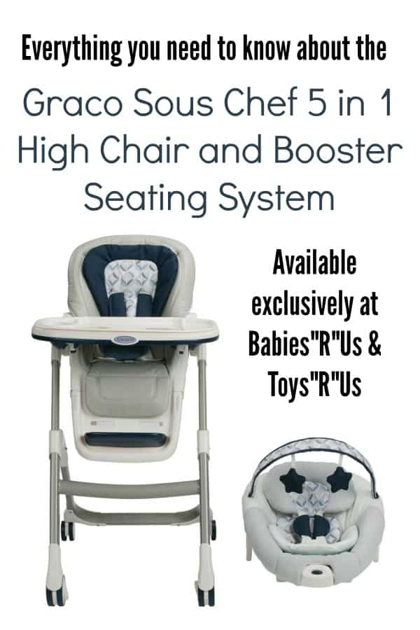 Graco Sous Chef 5 in 1 High Chair and Booster Seating System
