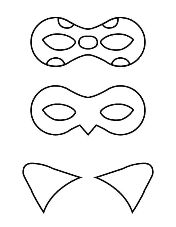 Ladybug And Cat Noir Masks   Free Printable