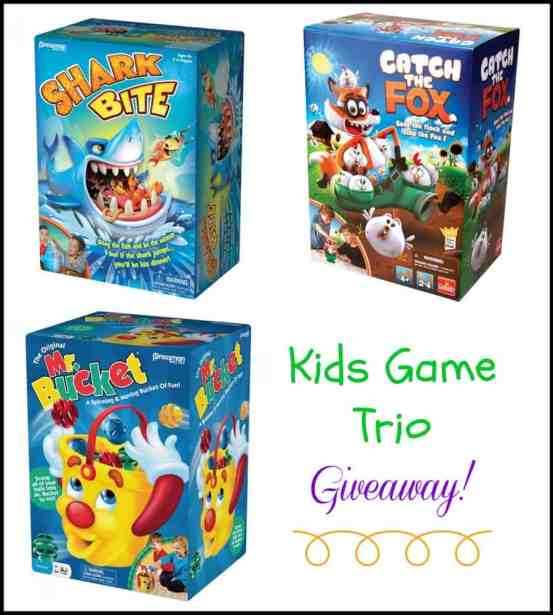 Kids Game Trio Giveaway