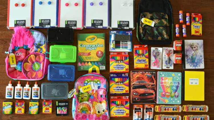 Back-To-School Shopping, Four Kids, $100 Budget