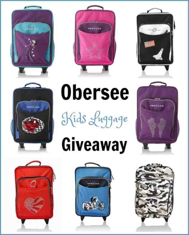 Obersee Kids Luggage Giveaway