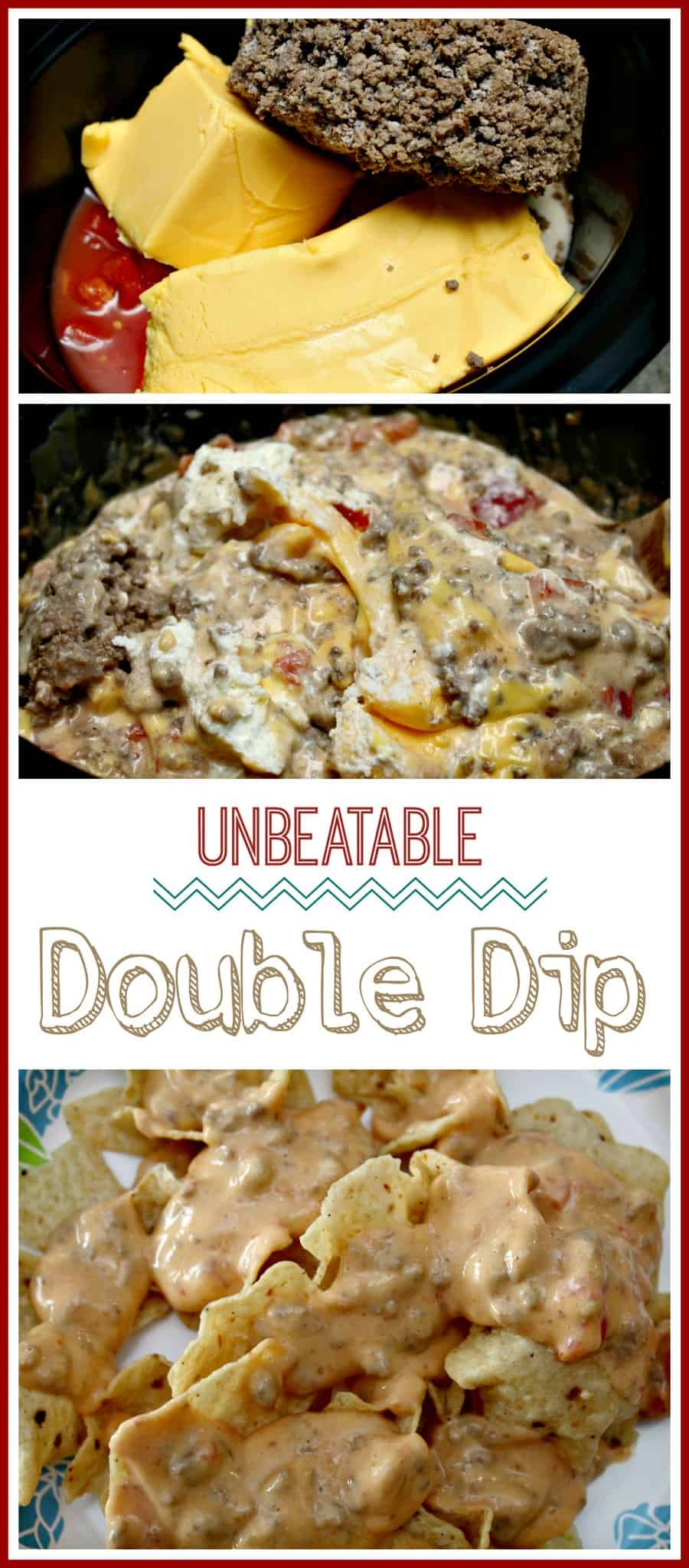 Unbeatable Double Dip { Big Game Party Dip Recipe!}
