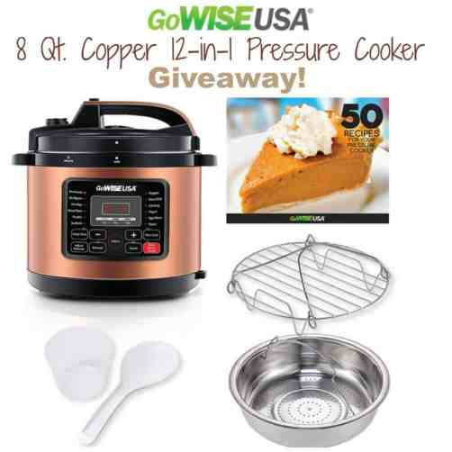 GoWise 8 Qt. Copper 12-in-1 Pressure Cooker {New Year, New You!} Giveaway