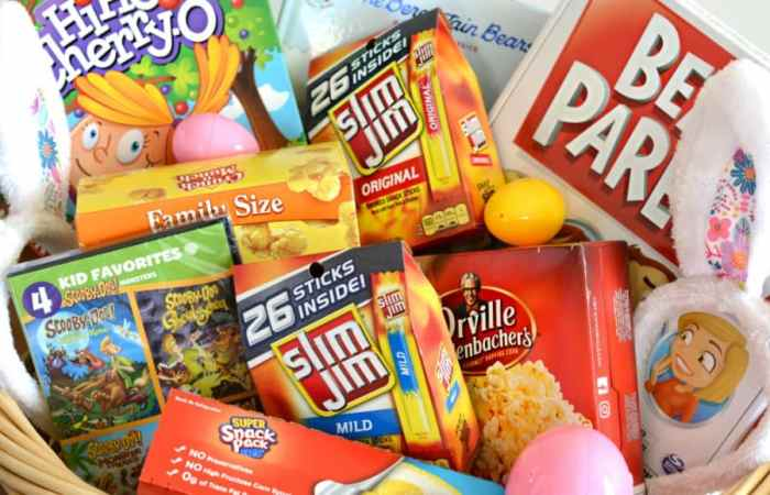 25 awesome ideas to include in your family easter basket family easter basket idea negle Gallery