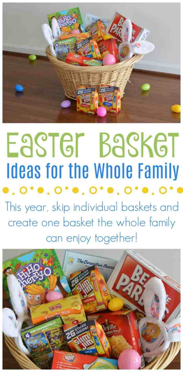 25 awesome ideas to include in your family easter basket family easter basket ideas negle Gallery