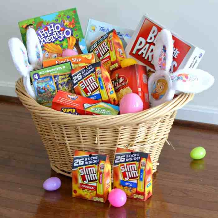 25 awesome ideas to include in your family easter basket family easter basket family easter basket idea negle Image collections