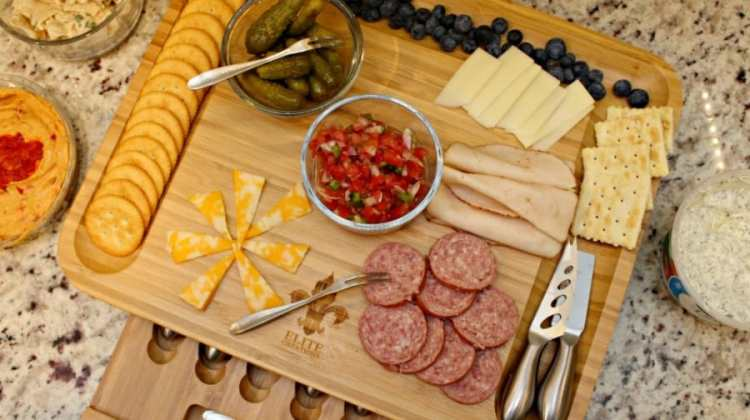 Deluxe Cheese Board and Knife Set + Giveaway
