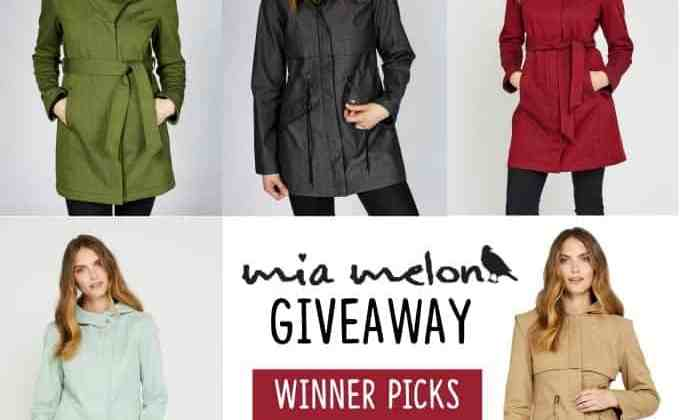 Win a Mia Melon Women's Raincoat!