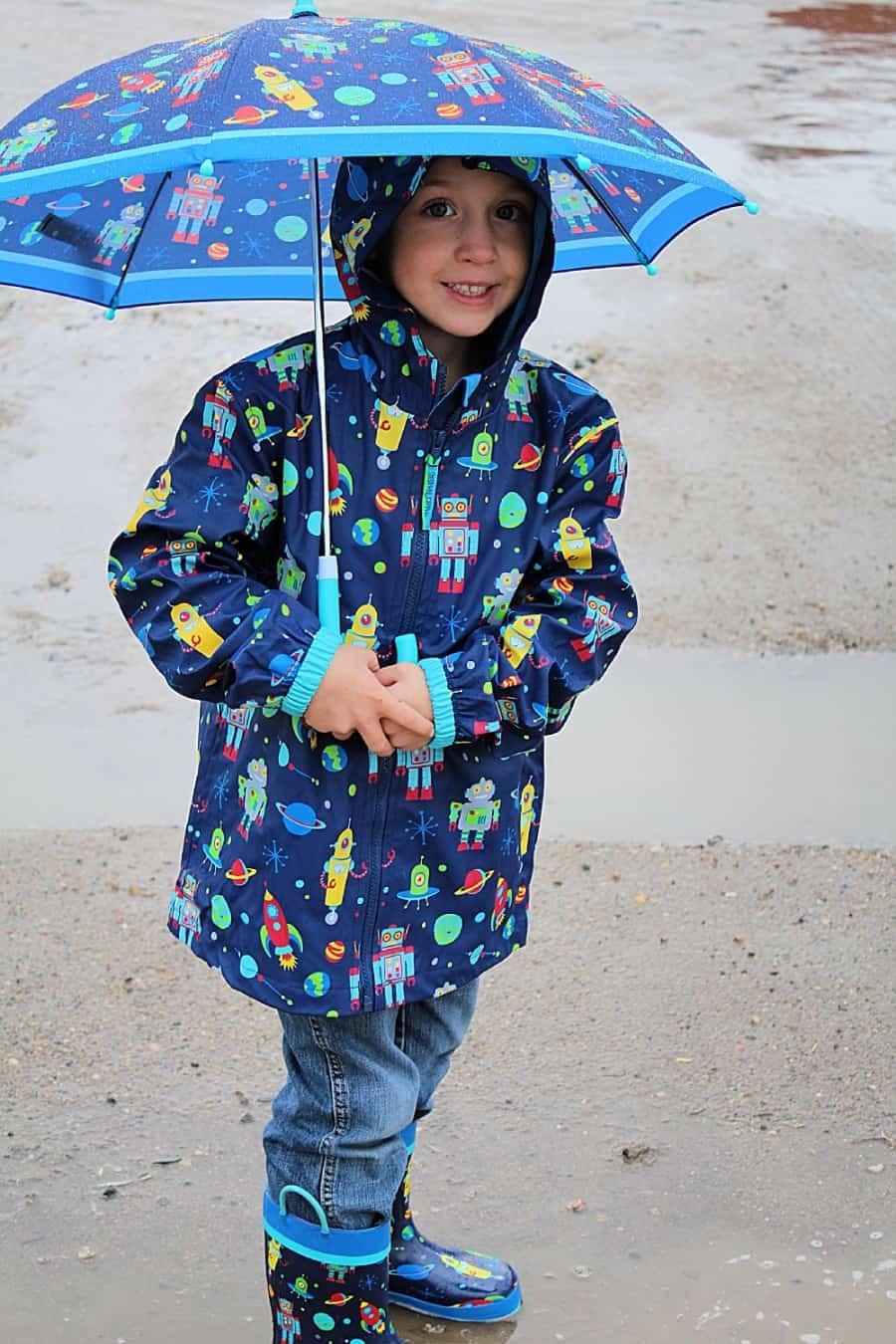 Outdoor Rainy Day Activities For Kids + Stephen Joseph Kids Rain Gear