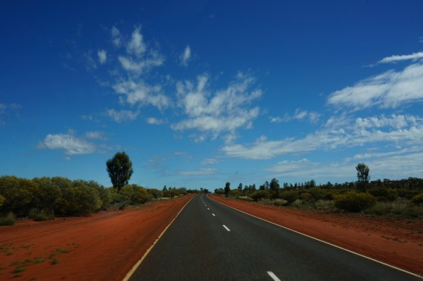 En route from King's Canyon to Uluru