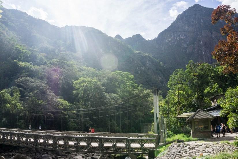The bridge en route from Aguas Calientes to Machu Picchu