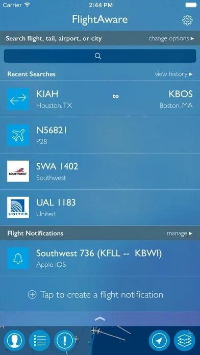 Track flights