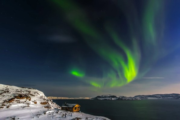 Aurora over the Kola Peninsula, Murmansk