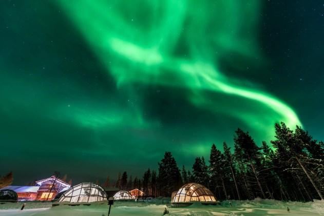 Finland Igloo Aurora