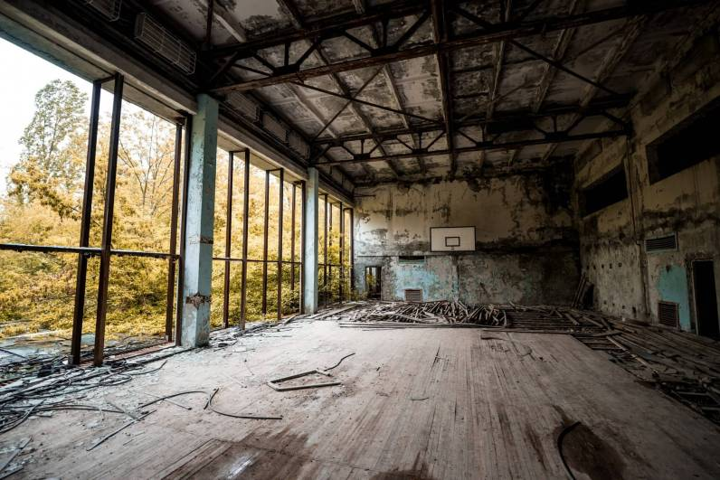 Abandoned gym, Pripyat