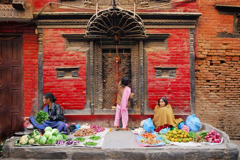 Food market Nepal