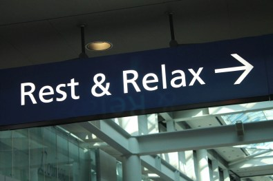 airport lounge sign