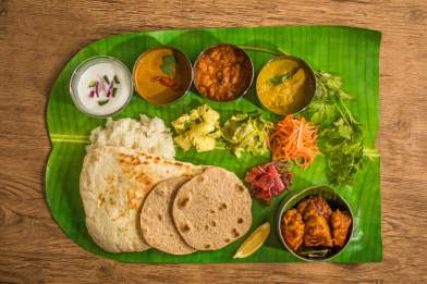Indian thali food set